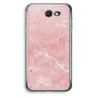 Samsung Galaxy J7 Prime (2017) Transparent Case (Soft) - Pink Marble