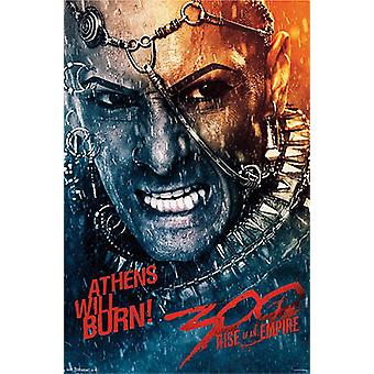 300: Rise of an Empire Poster Athens will burn Rodrigo Santoro (Xerxes)