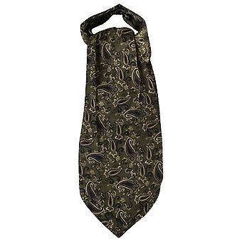 Gravatas de Knightsbridge Paisley gravata de seda - verde escuro