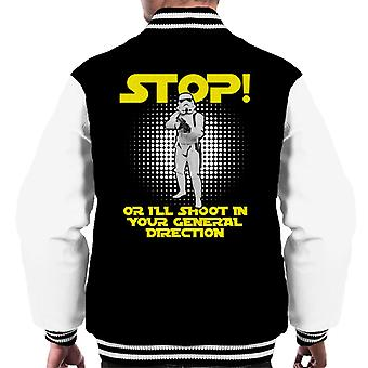 Original Stormtrooper Stop Or I Will Shoot Men's Varsity Jacket