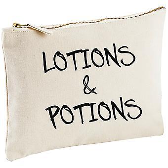 Lotions and Potions Natural Canvas Make up Bag