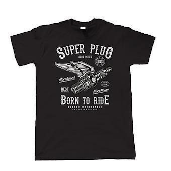 Super Plug, Herren-T-Shirt - Custom Motor Biker Motorräder Geschwindigkeit Power Geschenk ihn