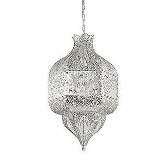 Ideal Lux - Nawa-1 otto grande luce finitura argento ciondolo IDL141954
