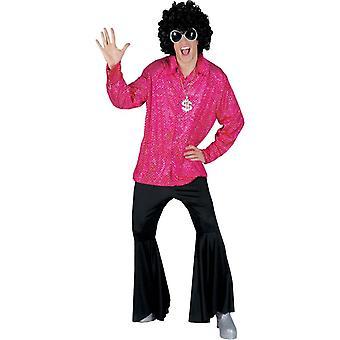 Disco Groovy Men Shirt Lg