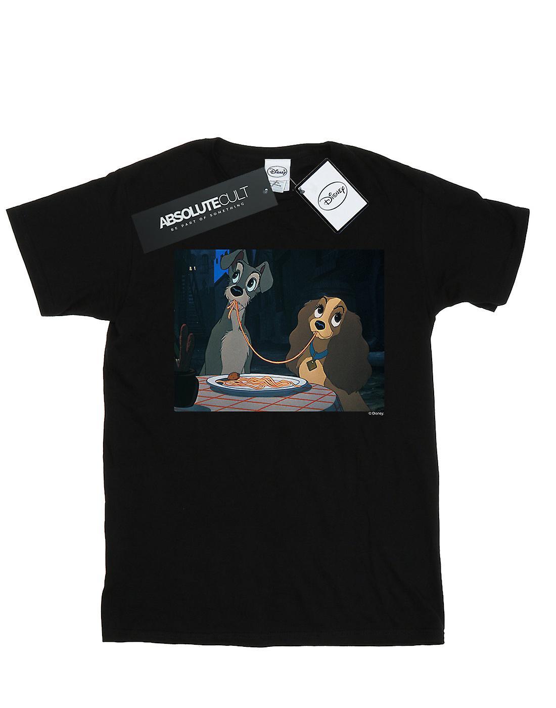 Disney Men's Lady And The Tramp Spaghetti Slurp T-Shirt
