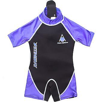 Aqua Sphere Stingray 2mm Neoprene Shorty Swimming Swimsuit Kids