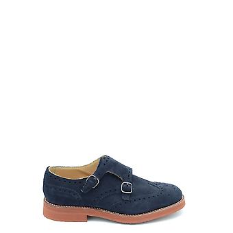 Church's Ezbc004063 Men's Blue Suede Monk Strap Shoes