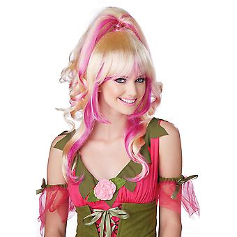Sugar & Spice Pink Pixie Tinkerbell Fairy Women Costume Wig