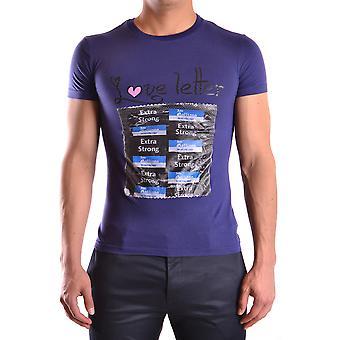 John Galliano Ezbc189012 Men's Purple Cotton T-shirt