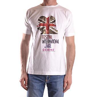 Fake London Genius Ezbc330001 Men's White Cotton T-shirt