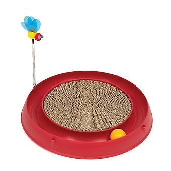 Catit Play Circuit Ball Toy With Scratch Pad