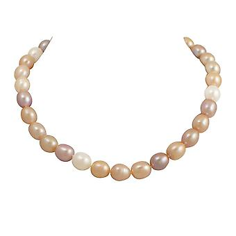 Eternal Collection Pandora 9-10mm Multi Coloured Freshwater Pearl Sterling Silver Necklace