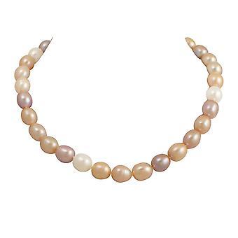 Éternelle Collection Pandora 9-10mm Multi couleur perle d'eau douce en argent collier