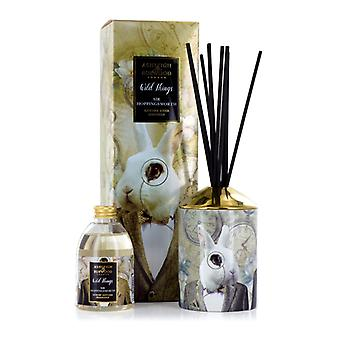 Ashleigh & Burwood Wild Things luxo scented Reed difusor Sir Hoppingworth-conhaque & couro