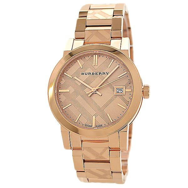 Burberry Bu9146 Rose Gold Stainless 34 Mm Swiss Made Ladies Watch
