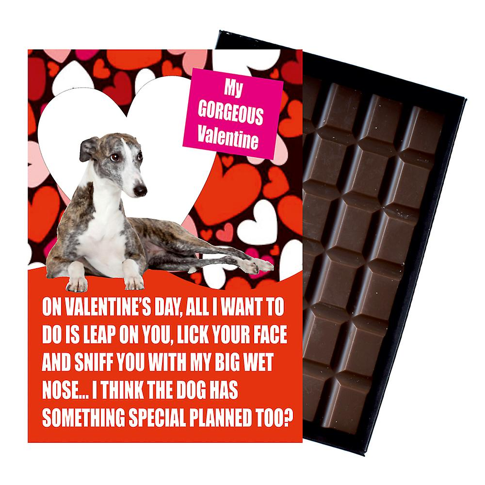 Whippet Gift for Valentines Day Presents For Dog Lovers Boxed Chocolate
