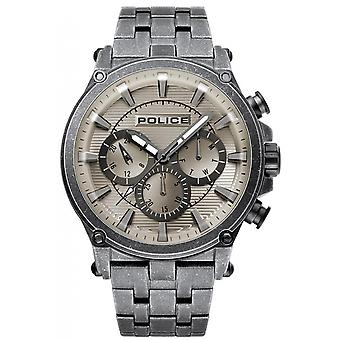 Police watches rebel quartz analog man watch with R1453321002 stainless steel bracelet