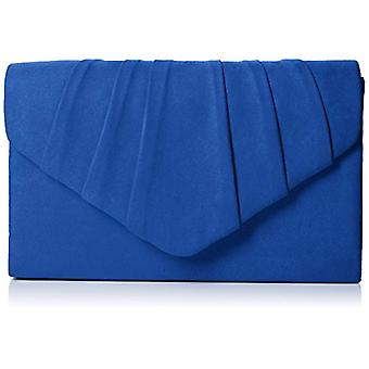 SwankySwans Womens Iggy suede Velvet Envelope party Prom clutch clutch blue (Royal Blue)) Single size