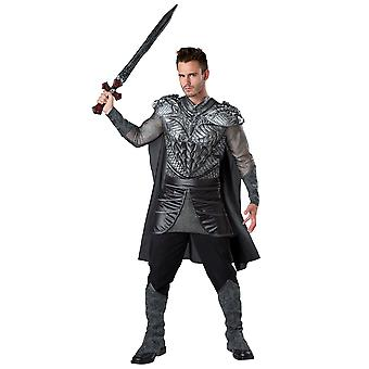 Dark Medieval Knight Black Renaissance Gladiator Warrior Mens Costume