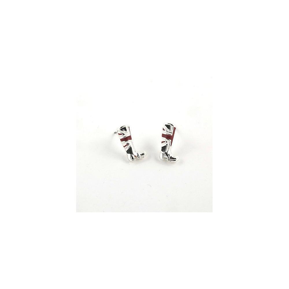 Union Jack Wear Union Jack Stud Earrings - Boots