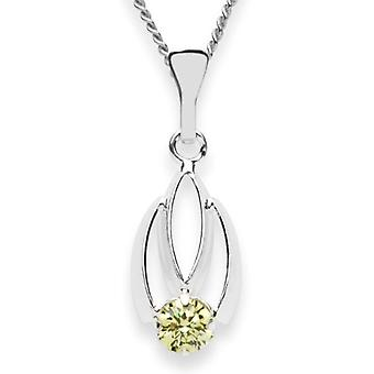 InCollections 5420200002401 - Chain with children's pendant with cubic zirconia - silver sterling 925