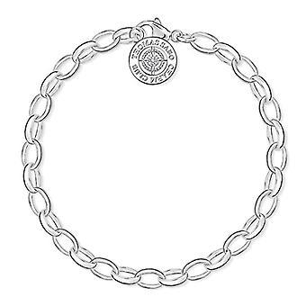 Thomas Sabo Charm Club Bayan Bileklik - Gümüş 925 ve Elmas Beyaz Top - 14,5 cm
