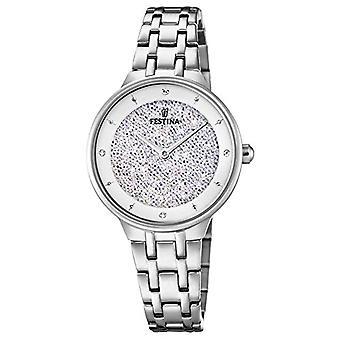 Panie analogowy zegarek kwarcowy zegarek Festina z stali nierdzewnej pasek F20382/1
