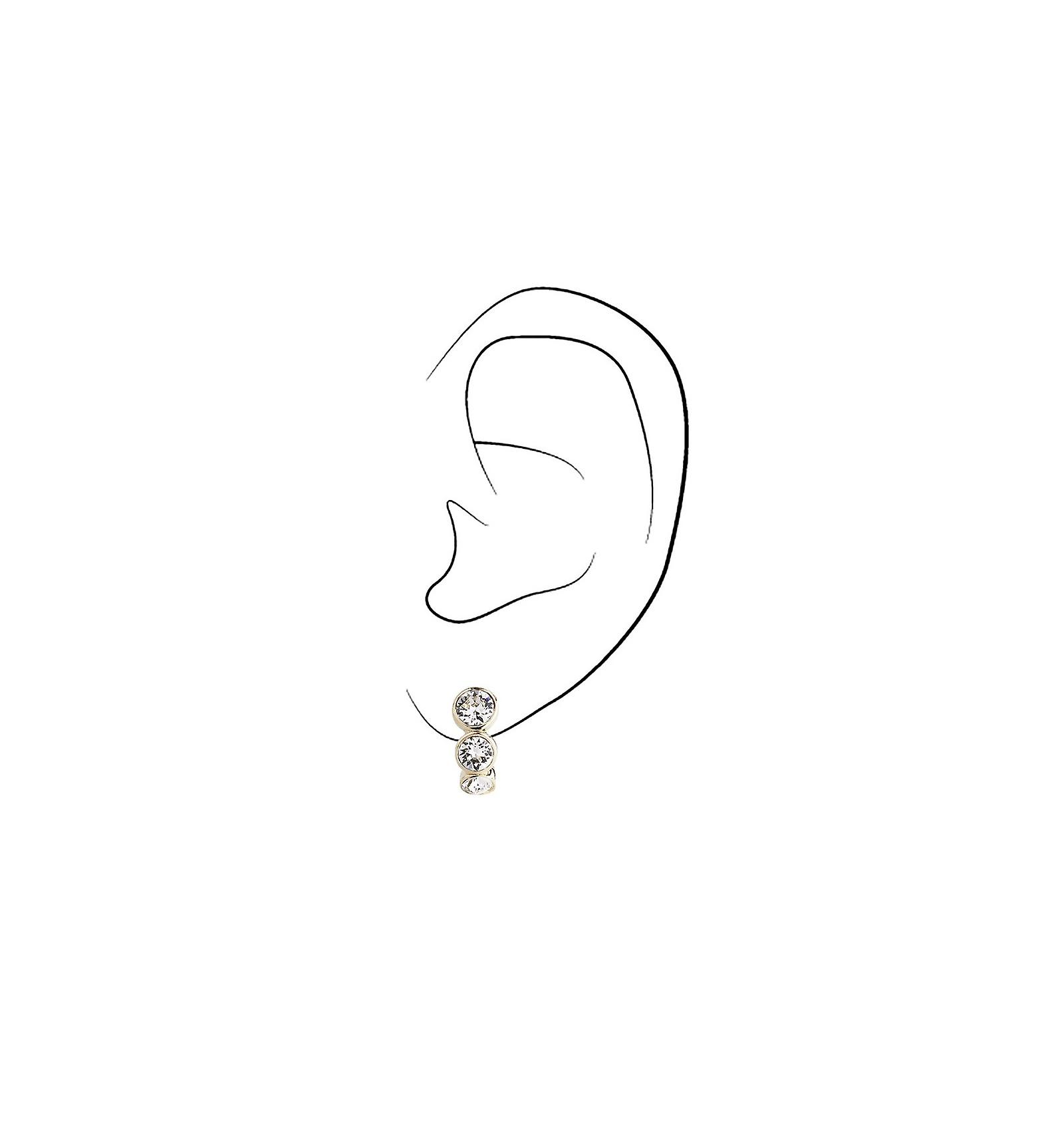 Traveller clip earring - 22ct gold plated - Swarovski Crystals - 155804