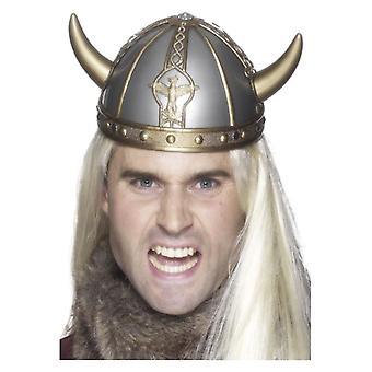 Mens Wikinger Barbar Helm Fancy Dress Zubehör