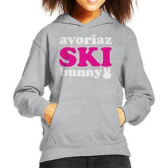Avoriaz Ski Bunny Kid's Hooded Sweatshirt