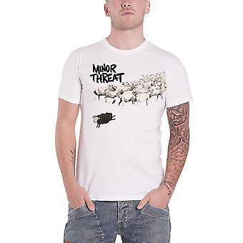 Minor Threat T Shirt Out Of Step Band Logo new Official Mens White