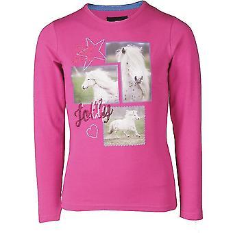 Horka pony meisjes shirt-fuchsia