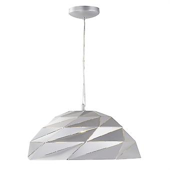 Searchlight origami 1 lichtkoepel hanger zilver 6242SI