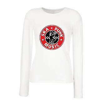 White woman long-sleeved T-shirt wtc1833 ska punk