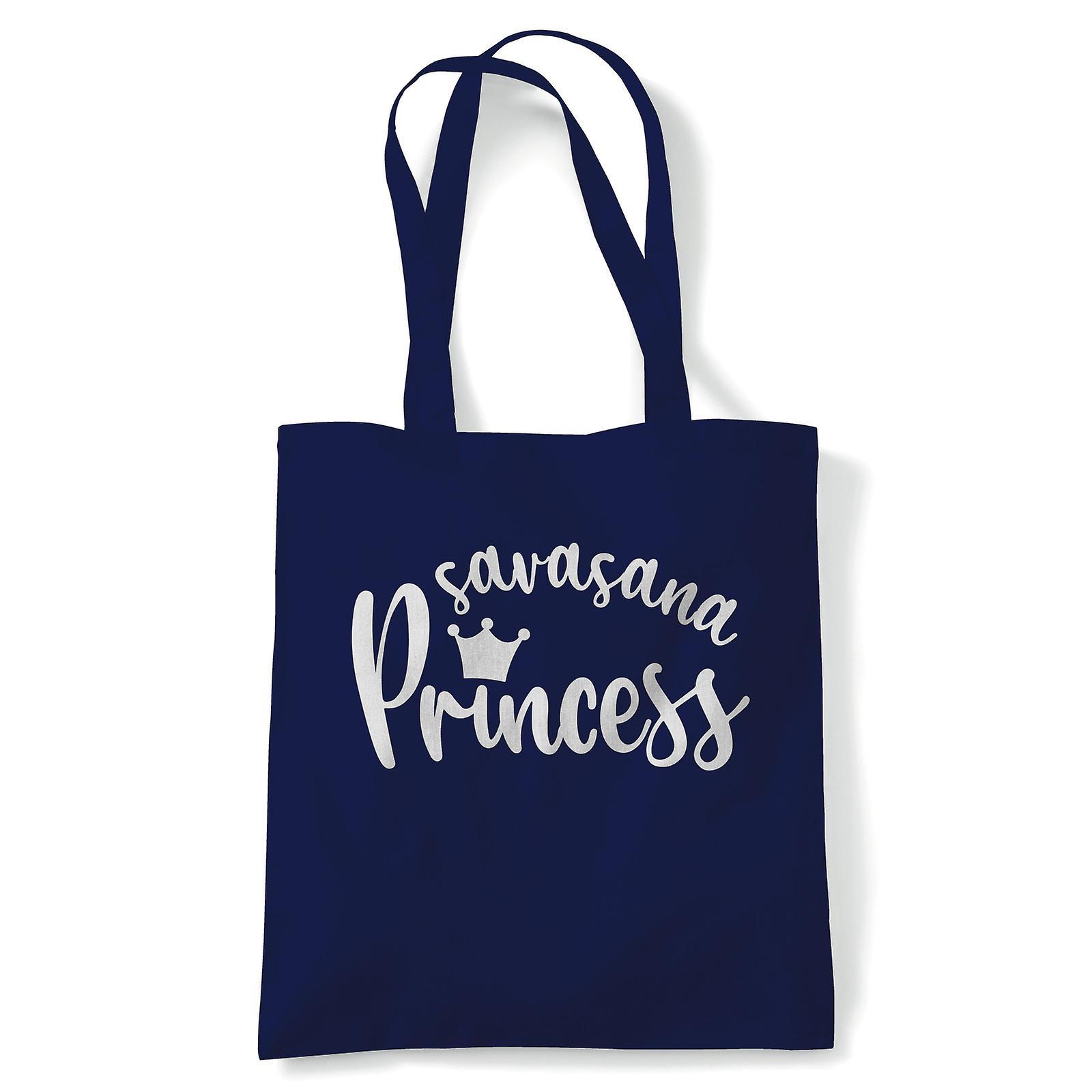 Savasana Princess, Tote - Yoga Reusable Canvas Bag Gift ...