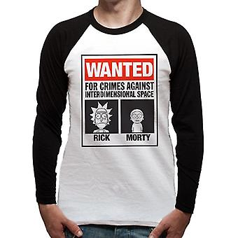 Rick And Morty-Wanted Poster T-Shirt