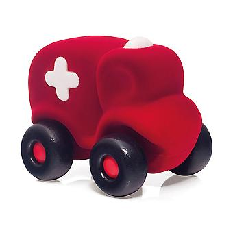 Rubbabu Ambulance Large (Rood) Push Langs Eco Friendly Kids Kinderspeelgoed