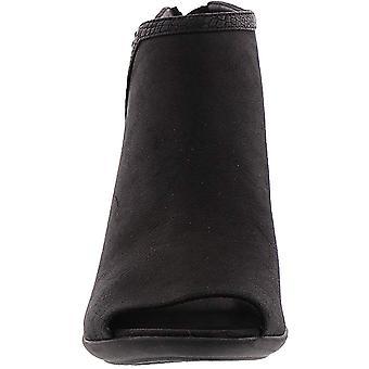 Easy Street Women's Paris Ankle Boot, Black/Snake, 7 M US