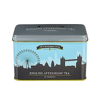 Boîte à thé d'horizon de Londres avec 40 sachets de thé anglais d'après-midi