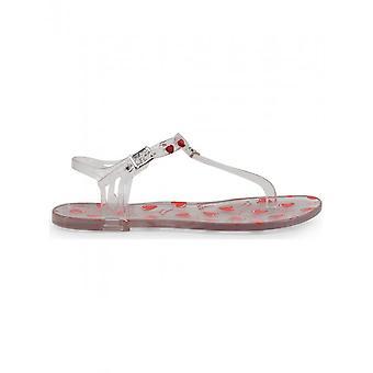 Love Moschino - Schuhe - Flip Flops - JA16021G17IW_0998 - Damen - whitesmoke,red - 39