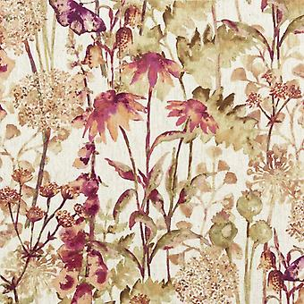 Mcalister textiles wildflower burnt orange fabric