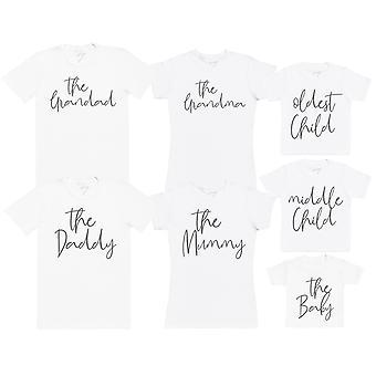 The Family Member Set - Matching Set - Baby / Kids T-Shirt, Mum & Dad T-Shirt