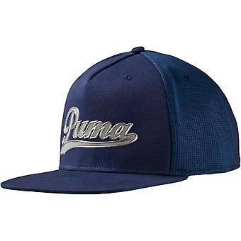 Puma Mens Script Golf Sports Casual Snapback Baseball Cap Hat - Navy - OSFA