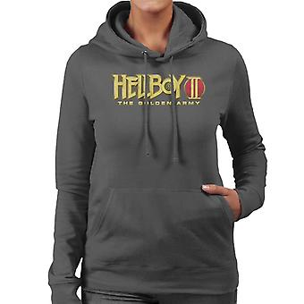 Hellboy II The Golden Army Logo Women's Hooded Sweatshirt