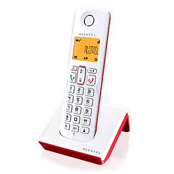 Telefono wireless Alcatel S-250 DECT SMS LED White Red