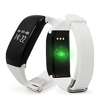 BRIGMTON BSPORT-14-B OLED 0.66-quot activity bracelet; Bluetooth 4.0 IP67 Android /iOS 26 g White