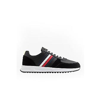 Tommy Hilfiger Modern Corporate Leather Trainers Black
