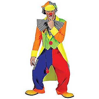Spanky Striped Clown Circus Joker Fête d'anniversaire Funny Dress Up Men Costume