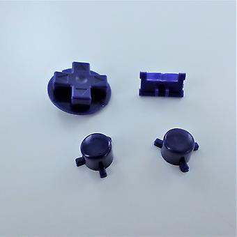 Button set for nintendo game boy pocket console a b d-pad power switch replacement - indigo purple | zedlabz