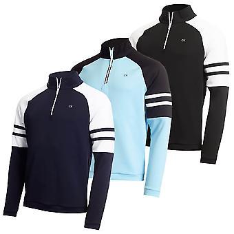 Calvin Klein Mężczyźni 2020 Strata Flex 1/2 Zip Lekki sweter izolowany